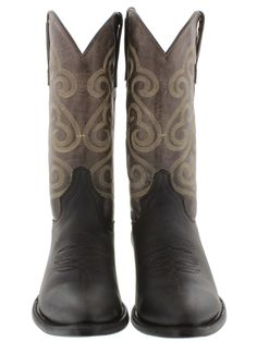 Men's cowboy boots brown leather classic western biker rodeo sizes