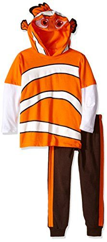 Disney Little Boys Toddler Nemo 2Piece Costume Hoodie and Pant Set Orange 3T *** You can get more details by clicking on the image.Note:It is affiliate link to Amazon. #l4l