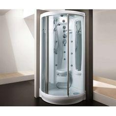 esta ducha,de color blanco,es el ideàl para  relajarse despues un dìa de trabajo