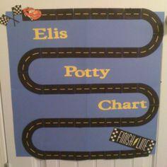 Cars potty training chart!