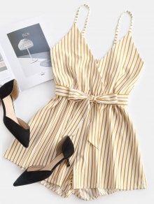 Striped Surplice Cami Romper - ZAFUL Striped Surplice Cami Romper – Multi M Source by skorpionboris - Casual Dresses, Casual Outfits, Cute Outfits, Fashion Outfits, Fashion Fashion, Fashion Spring, Beautiful Outfits, Fashion Teens, Chill Outfits