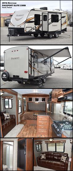 This 2016 Keystone PASSPORT ELITE 23 travel trailer offers all the comforts of the larger RV in a size and weight that can be towed by the new more fuel efficient cars, trucks and SUVs. Who says you can't enjoy better fuel economy and still take it all with you?