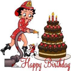 Happy Birthday! from Betty Boop the FireLady