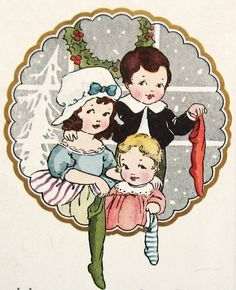 Vintage Christmas Postcard by Whitney Christmas Card Images, Vintage Christmas Images, Vintage Christmas Ornaments, Retro Christmas, Vintage Holiday, Christmas Greeting Cards, Christmas Pictures, Christmas Greetings, Kids Christmas