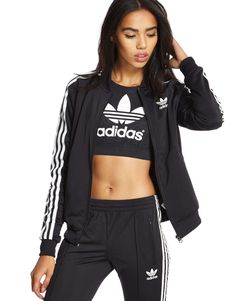 adidas Originals Supergirl Track Top £55.00 Cost of the hoody, (pink) sports bra, and track paints £115.00