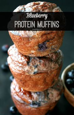 Blueberry protein muffins recipe made with chocolate milkshake Premier Protein powder. A quick and low carb breakfast or snack option to keep eating healthy