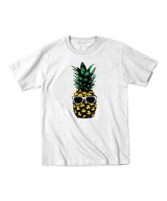 White Pineapple Tee - Toddler & Kids