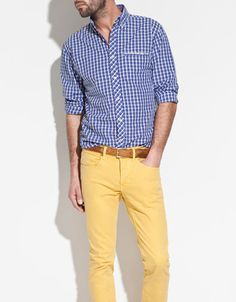BUTTON DOWN SHIRT WITH CONTRAST DETAILING - Shirts - Man - ZARA United Kingdom