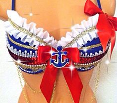 Sailor Rave Bra by TheLoveShackk on Etsy