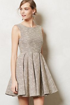 Shimmered Tweed Dress #anthropologie $358.00