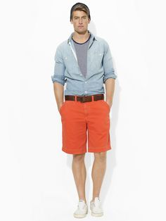 Shop Clothing for Men, Women, Children & Babies Its A Mans World, Short Shorts, Chino Shorts, Fashion Ideas, Baby Kids, Polo Ralph Lauren, Beige, Mens Fashion, Orange