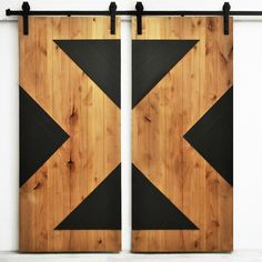 Perfect for an industrial look, these stunning barn doors can be used as room dividers, door or window coverings, closet or pantry doors, or decorative wall accents.