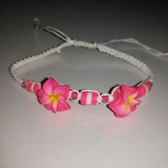 New Flower friendship bracelet New Adjustable  Friendship bracelet  Pink, yellow Beads Jewelry