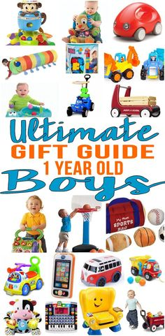 BEST Gifts 1 Year Old Boys! The ultimate gift guide for gifts for 1 year old boys.  Get the best ideas for first birthday gifts or Christmas gifts for 1 year olds. Kids & children will love these fun products. Top toys for boys and girls!