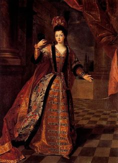 Velvet and satin 17th century dress