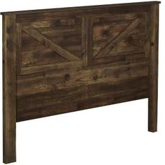 Radiantly transform the old look of your abode to an entirely modern style with Ameriwood Brownwood Rustic Queen Headboard. Rustic Headboard Diy, Diy King Headboard, Wingback Headboard, Diy Headboards, Wood Headboard, Panel Headboard, Headboard Ideas, Western Headboard, Handmade Headboards