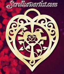 Wood Cross in a heart
