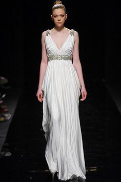Greek dress on runway #FiveYearsofFalafel