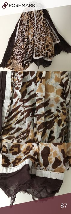 Cheetah Print Scarf Excellent condition! Ends are purposely frayed Accessories Scarves & Wraps