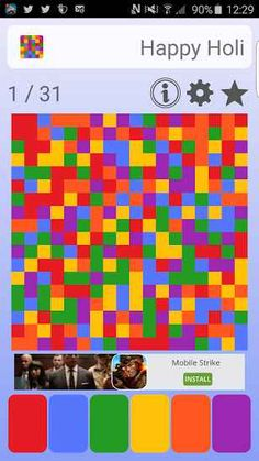 The aim of the Happy Holi game is to color the entire board with single color. Happy Holi is a super fun challenging game to play with different colors