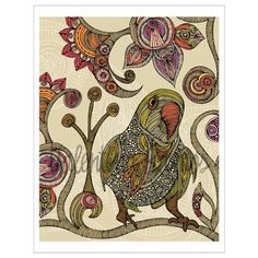 Peter the parrot Print by valentinadesign on Etsy