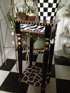 Animal Print Table by paintingbymichele on Etsy, $149.99