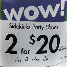 Sidekicks Spare Party Shoe Display