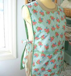 Vintage Apron Patterns Free   ... , there was the addition of vintage minty-green rick-rack too