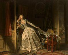 """The Stolen Kiss,"" Jean-Honoré Fragonard, c. 1787, oil on canvas.  The Hermitage, St. Petersburg."