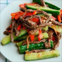 Огурцы с мясом «По-корейски»   Диета Дюкана