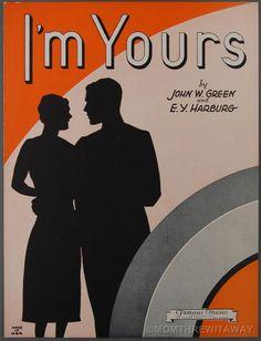 1930 I'M YOURS Sheet Music E Y YIP HARBURG John W. Green Piano Ukulele Guitar