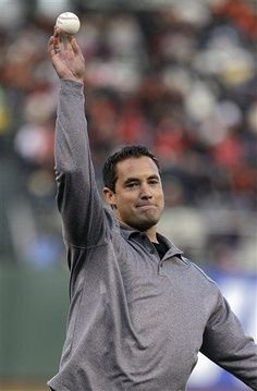 GAME 11, 4/17/12: Pat Burrell throws out the ceremonial first pitch