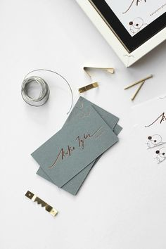 Logo and business cards for photographer | copper foil