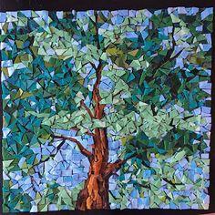 tree smalti mosaic looking up ireland forest blarney castle finished orsoni Stone Mosaic, Mosaic Art, Mosaic Tiles, Kitchen Mosaic, Fused Glass, Stained Glass, Mosaic Flowers, Tree Forest, Mosaic Designs