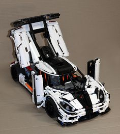 Koenigsegg :: My LEGO creations. The Koenigsegg was introduced in Seven examples, including one prototype, were built during 2014 and This was one of the most exclu. Lego Wheels, Lego Racers, Lego Design, Lego Moc, Lego Technic, Koenigsegg, Lego Creations, Gifts For Boys, Legos