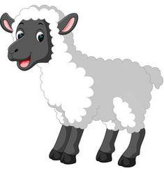 Cute sheep cartoon vector Sheep Cartoon, Cartoon Giraffe, Easter Cartoons, Fair Pictures, Baby Animals, Cute Animals, Sheep Vector, Sheep Crafts, Dream Kids