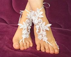 Products Blush barefoot sandals, wedding lace sandals, bridal sandals, bridesmaid sandals, wedding a Barefoot Sandals Wedding, Bridal Sandals, Wedding Shoes, Wedding Garter, Wedding Lace, Wedding White, Bride Garter, Wedding Makeup, Dream Wedding
