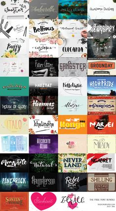 As a huge thank you to fantastic customers, the team at TheHungryJPEG.com wanted to offer aFREE collectionof 43 beautifulFonts. The pack comes with our Complete License, which (as always) allows for use of these products across a wide range of commercial projects. The pack will only be available for 14 days. So download it today, before its gone for good.