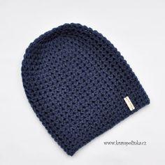 Homeleska Nako Denim – Krampolínka Knitted Hats, Crochet Hats, Dark Denim, Diy And Crafts, Homemade, Knitting, Beanies, Advent, Fashion