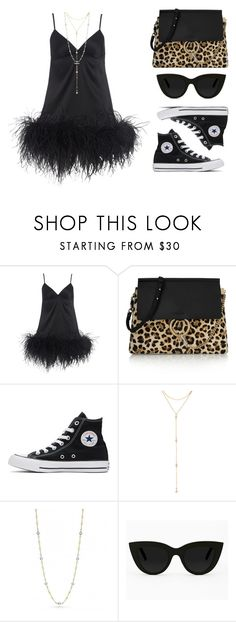 """""""Feather dress"""" by baludna ❤ liked on Polyvore featuring Myla, Chloé, Converse, Fragments, Roberto Coin and Quay"""