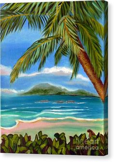 Buy a 11.00 x 14.00 stretched canvas print of Shelia Kempf's Costa Rica Highs   Costa Rica Seascape Mountains and Palm Trees for $75.00.  Only 9 prints remaining.  Offer expires on 10/03/2017.