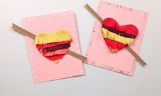 diy  valentines day cards tutorial kids hearts glue