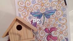 DIY Bird House Adult Coloring Pages. Crafts for After You've Colored Zen...