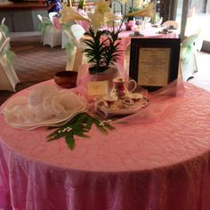 This was our welcome table at the Easter Tea, so nice.