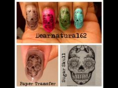 HALLOWEEN | Sugar Skull Nail Transfer
