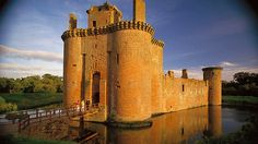 Caerlaverock Castle near the shore of the Solway Firth.