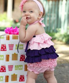 Loving this Pink & Grape Tiered Halter Top - Infant & Toddler on #zulily! #zulilyfinds
