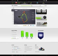 Fitness data dashboard by NikePlus
