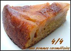 Simple, facile & délicieux quatre quarts aux pommes caramélisées, Recette Ptitchef Biscuits, Banana Bread, Desserts, Food, Hui, Dessert Simple, Cake, Pound Cakes, Travel Cake