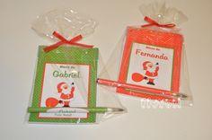 Kit bloco + caneta - Natal  :: flavoli.net - Papelaria Personalizada :: Contato: (21) 98-836-0113 vendas@flavoli.net